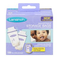 Lansinoh Breast Milk Storage Bags, 100 ct