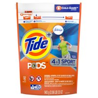 Tide PODS Sport Odor Defense, Liquid Laundry Detergent Pacs, Active Fresh, 32 count