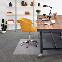 "Cleartex Advantagemat | Chair Mat for Low Pile Carpets | Clear PVC | Rectangular with Lip | Size 36"" x 48"""