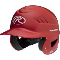 Rawlings Coolflo Molded Baseball Batting Helmet, Red