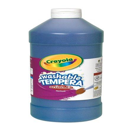 Crayola Artista Ii Non-Toxic Washable Tempera Paint, 1 Pint Squeeze Bottle, Blue