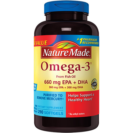 Nature Made Omega-3 from Fish Oil Softgels, 660 Mg EPA + DHA, 290