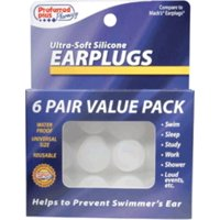 Ear Plugs, Ultra-Soft Silicone 6 pair