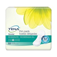 """TENA Serenity Thin Pads, 13"""", Moderate Absorbency, 52070 - Case of 128"""