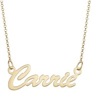 """Personalized Premium Sterling Silver or 14kt Gold over Sterling Hollywood Script Name Necklace, 18"""", 1mm thickness"""