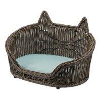 Wicker Cat Pet Bed by Drew Barrymore Flower Home
