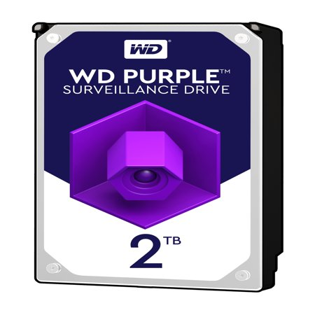 Ddr2 Sata Video (WD Purple 2TB Surveillance Hard Disk Drive - 5400 RPM Class SATA 6 Gb/s 64MB Cache 3.5 Inch - WD20PURZ )