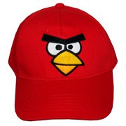 50080fe488f Angry Birds Robio Red Bird Face Video Game Adjustable Toddler Baseball Cap  Hat