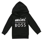 79b605f59fbe 0-5T Baby Boy Girl Mini Boss Hoodie Tops Toddler Hooded Sweater Casual  Hoodies with