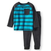 Long Sleeve Pocket T-Shirt & French Terry Jogger Pants, 2pc Outfit Set (Toddler Boys)