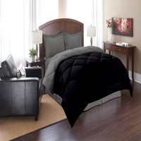 Elegant Comfort Goose Down Alternative Reversible 3pc Comforter Set- Available In A Few Sizes And Colors , King/Cal King, Black/Gray