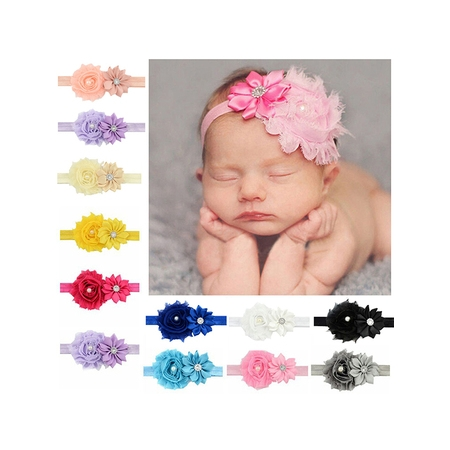 Headband for Baby Girl, Coxeer Cute 12 Pieces Hair Bows Clips Flower Ribbon Hair Accessories For - Minnie Mouse Hair Clips