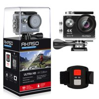 AKASO 4K WIFI Sports Action Camera Ultra HD Waterproof DV Camcorder 12MP 170 Degree Wide Angle, Black (EK7000)