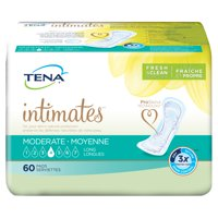 Tena Incontinence Pads for Women, Moderate, Long, 60 Count