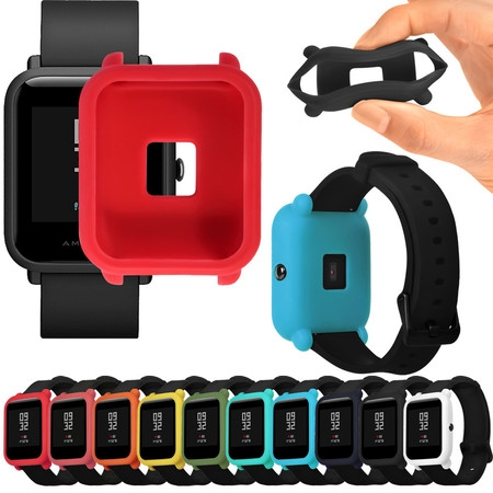 Oem Orange Silicone (Soft TPU Silicone Protection Full Case Cover For Huami Amazfit Bip Youth Watch )