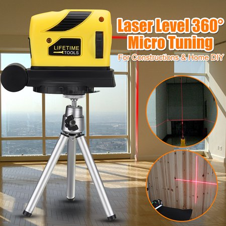 Function Level (4 In 1 Multifunction 360° Rotary Laser Level Self-Levelling 2 Cross Line Infrared Vertical Horizontal Measure Tool Micro Tuning Professional Automatic for Home Improvement Projects )
