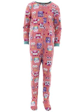 Komar Kids Girls' Owl Fleece Footed Blanket Sleeper (Little Girls & Big Girls)