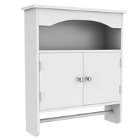 Yaheetech Bathroom Wall Cabinet with 2 Shutter Doors, White