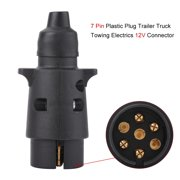trailer wiring 12v 7 pin plastic trailer plug socket wiring connector adapter for caravan towbar towing 7