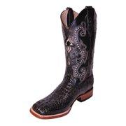 0f57f8391446 Ferrini Western Boots Mens Cowboy Caiman Gator Print Black 40393-04
