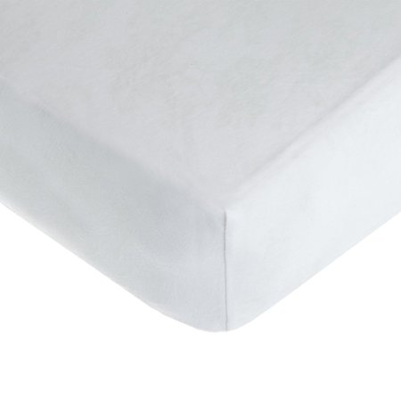 American Baby Company 100% Natural Cotton Value Jersey Knit Fitted Portable/Mini-Crib Sheet, White, Soft Breathable, for Boys and Girls