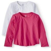 Long Sleeve Crew Neck T-Shirts, 2-Pack Set (Little Girls & Big Girls)