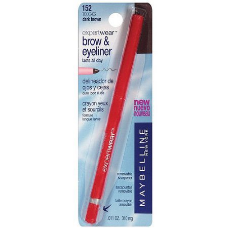 Maybelline Expert Wear Brow & Eyeliner Pencil, Dark (Best Eyeliner For Inner Rim Of The Eye)
