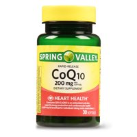 Spring Valley CoQ10 Rapid Release Softgels, 200 mg, 30 Ct