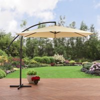Mainstays 10' Steel Offset Patio Umbrella, Tan