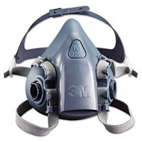 3M Medium Ultimate Half Mask 7500 Series Reusable Respirator With 3M Cool Flow Exhalation Valve, 4 Point Harness And Bayonet Connection