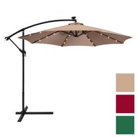 Best Choice Products 10' Solar Offset Patio Umbrella, Multiple Colors
