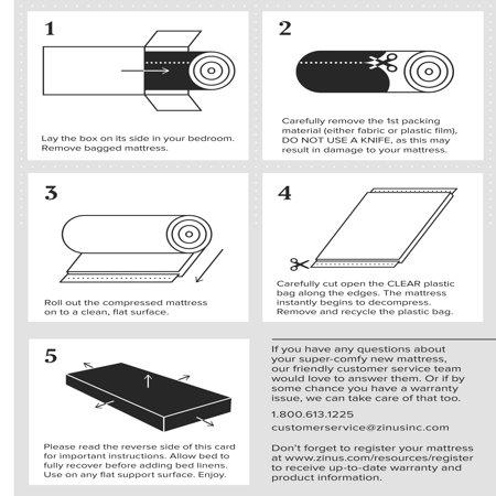 "Slumber 1 Comfort 6"" Twin Pack Bunk Bed Spring Mattress (Mattresses Only)"