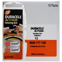 Duracell Hearing Aid Batteries Size 13 (80 Pack)