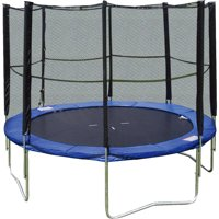 Super Jumper 10-Foot Trampoline, with Safety Enclosure Net, Blue