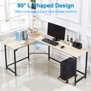 L Shape Corner Computer Desk Pc Wood Steel Laptop Table Workstation Home Office