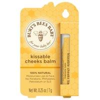 (2 pack) Burt's Bees Baby Kissable Cheeks Balm, 100% Natural Baby Moisturizer - 0.25 oz Balm