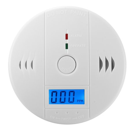1-50 Pcs Battery Powerd LCD CO Carbon Monoxide Alarm Fire Sensor Detector Sound & LED Flash Alarm Combo Detector Tester Monitor with Display Home Safety