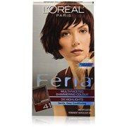 L'Oreal Paris Feria Hair Color, 41 Rich Mahogany (Packaging May Vary)