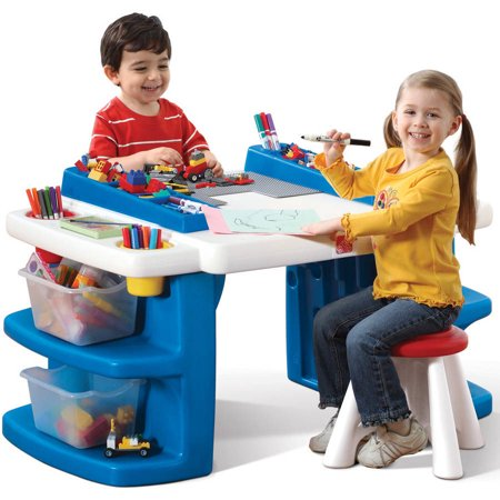 Step2 Build & Store Kids Activity Table Art Desk with Storage](Kids Craft Table)