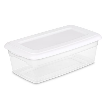 Sterilite 6 Qt./5.7 L Storage Box, White ()