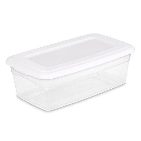 Sterilite 6 Qt 5 7 L Storage Box White Walmart Com
