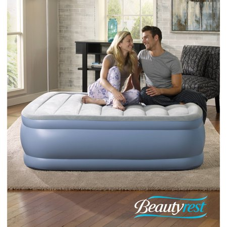 Raised Aerobed (Beautyrest Hi Loft Raised Air Bed Mattress with Express Pump, Multiple Sizes, 1 Each )