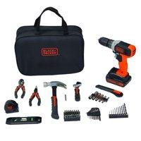 BLACK+DECKER 20-Volt MAX Project Kit 75-Piece, BDPK70275CWM