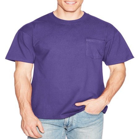 Men's Premium Beefy-T Short Sleeve T-Shirt With Pocket, Up to Size 3XL Button Up Hawaiian T-shirt