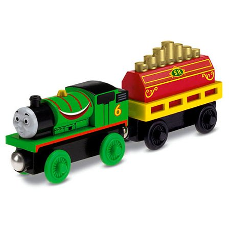 Thomas & Friends Wooden Railway Percy's Musical Ride Train - Percy The Train