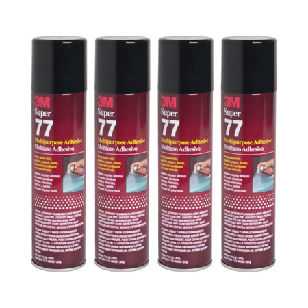 QTY 4 3M 7.3 oz SUPER 77 SPRAY Glue Adhesive Great for School Science Projects Foam Cardboard for $<!---->