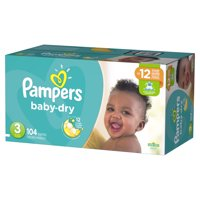 Pampers Baby-Dry Diapers (Choose Size and Count)