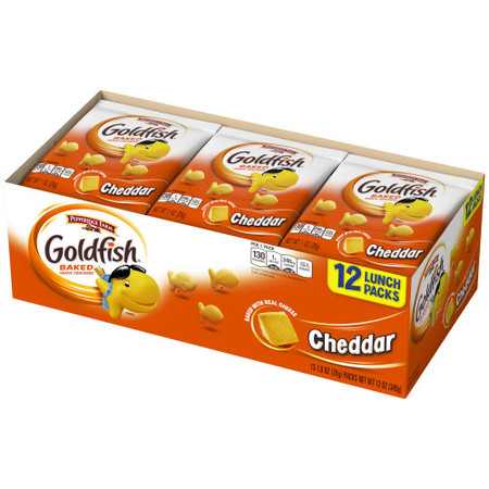 - Pepperidge Farm Goldfish Cheddar Crackers, 12 oz. Multi-pack Tray, 12-count 1 oz. Single-Serve Snack Packs