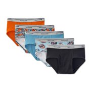Fruit of the Loom Print and Solid Fashion Briefs, 5 Pack (Little Boys & Big Boys)