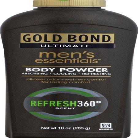 GOLD BOND Ultimate Men's Essentials Body Powder, Refresh 360 Scent, (Gold Bond Ultimate Mens Essentials Body Powder)